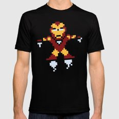 Iron Pixel Black MEDIUM Mens Fitted Tee