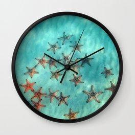 Ocean and starfish Wall Clock