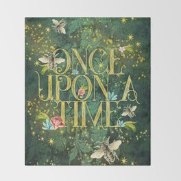 Bee Once Upon a Time Throw Blanket