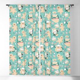 Baking Gingerbread - Retro Pastels Blackout Curtain