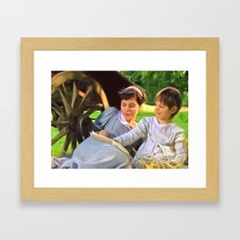 Look at the pretty pictures Framed Art Print