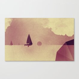 Sailing boats love ocean Canvas Print