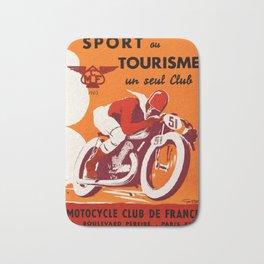 Motorcycle Club de France - Vintage Poster Bath Mat