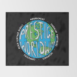 Prestige Worldwide Enterprise, The First Word In Entertainment, Step Brothers Original Design for Wa Throw Blanket