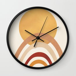 The Sun and a Rainbow II Wall Clock
