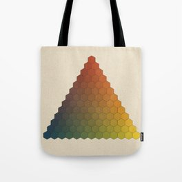 Lichtenberg-Mayer Colour Triangle vintage variation, Remake of Mayers original idea of 12 chambers Tote Bag