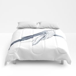 Baby humpback whale for children kid baby Comforters