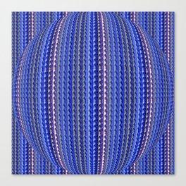 Mega Bright Indigo Lavender Blue Psychedelic Pattern Canvas Print