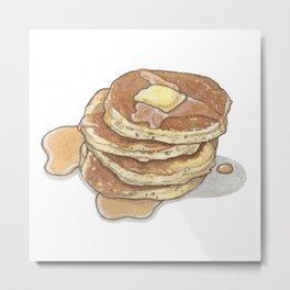Breakfast & Brunch: Pancakes Metal Print