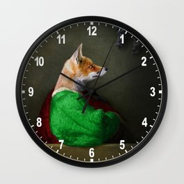Portrait of the Fox and the Grapes Wall Clock