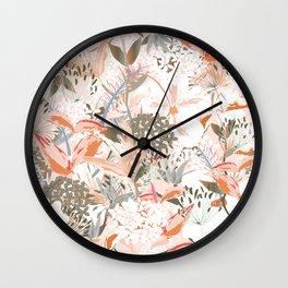 Vintage tropical design Wall Clock