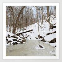 river of snow Art Print