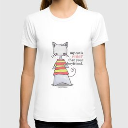 My Cat is Cuter Than Your Boyfriend T-shirt