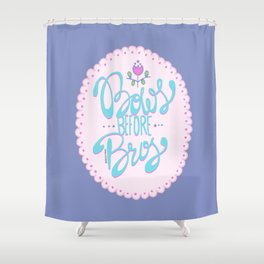 Bows Before Bros Shower Curtain