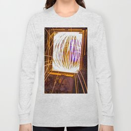 Graff Bomb - Light Painting in Abandoned Ruins Long Sleeve T-shirt