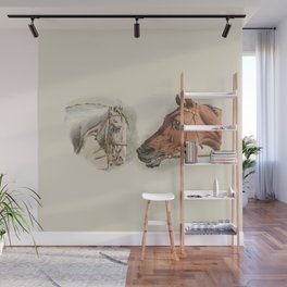 Two Horses Wall Mural