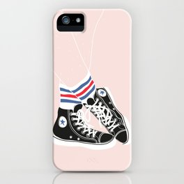 sneakers with socks iPhone Case