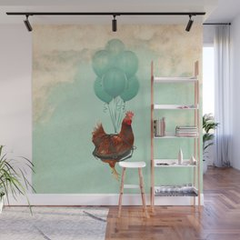 Chickens can't fly 02 Wall Mural
