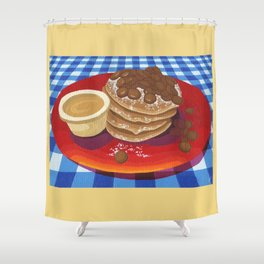 Pancakes Week 4 Shower Curtain