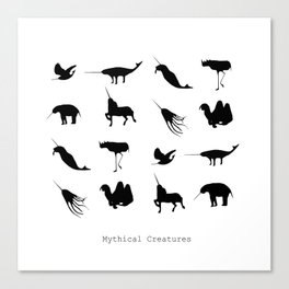 Typology of Mythical Creatures Canvas Print