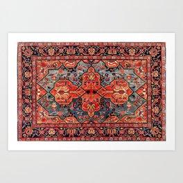 Kashan Poshti Central Persian Rug Print Art Print