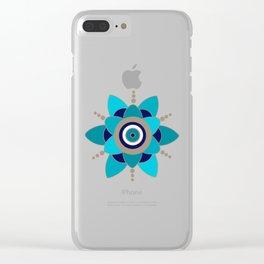Evil Eye 2 Clear iPhone Case