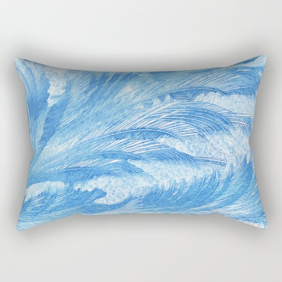 Blue frost abstract Rectangular Pillow