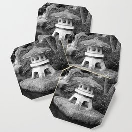 Stone lantern in Japanese Zen Garden Coaster