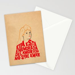 She's in love with love Stationery Cards