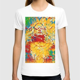 6759s-KMA The Woman in the Stained Glass Sensual Feminine Energy Emerging T-shirt