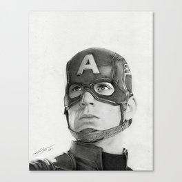 Portrait Drawing of Capt. America Canvas Print