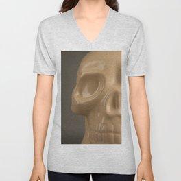 Shiny Skull Unisex V-Neck