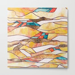Monegros Abstract Landscape Metal Print