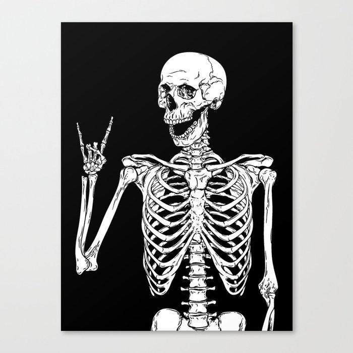 Rock and Roll Skeleton Leinwanddruck