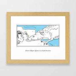 Teasing an Alligator = Bad Idea Framed Art Print