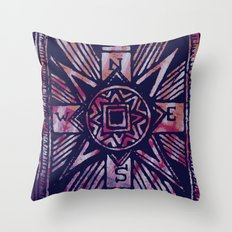colored compass Throw Pillow