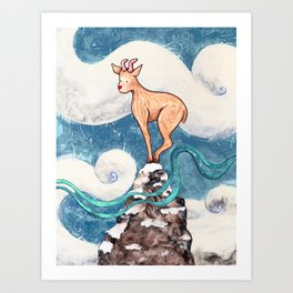 Winter Goat Art Print