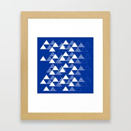 Waves on Blue Framed Art Print