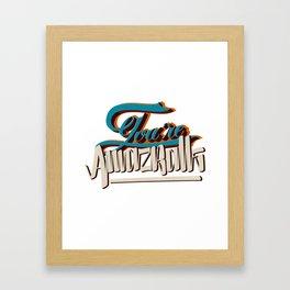 YOU'RE AMAZBALLS Framed Art Print
