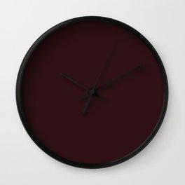 Enduring Romance ~ Dark Taupe Wall Clock