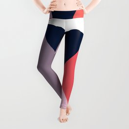 Modern Poetic Geometry Leggings