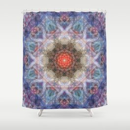 Penteract # 1 (mandala) Shower Curtain