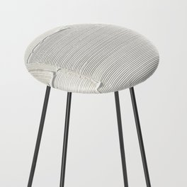 Relief [2]: an abstract, textured piece in white by Alyssa Hamilton Art Counter Stool