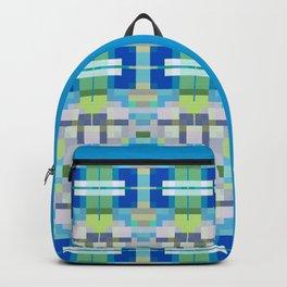 QUADRANGLE cool blue green tones in geometric design Backpack