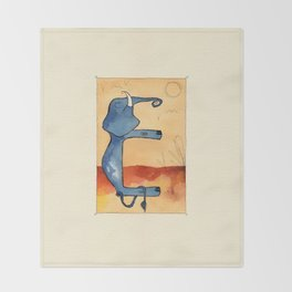 Animal's Alphabet - E for 'Elefante' Throw Blanket