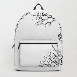Tree of life meaning white Backpack