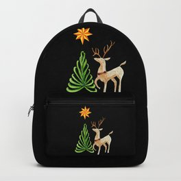 Deer near a tree, gazing at a star Backpack