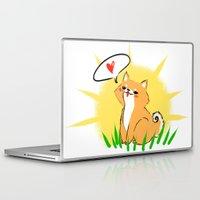 shiba Laptop & iPad Skins featuring Guapo the Shiba by Corpus Ren
