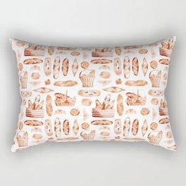 Watercolor Baguettes Rectangular Pillow