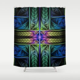 Classical Fractal Shower Curtain